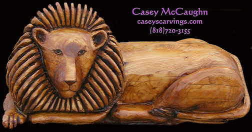 Wood carving by casey mccaughn
